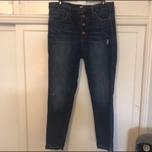 Madewell high rise skinny jeans with drop hem